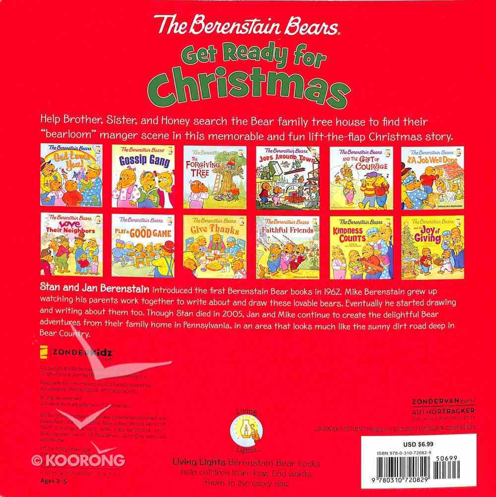 Get Ready For Christmas (A Lift-The-Flap Book) (The Berenstain Bears Series) Paperback