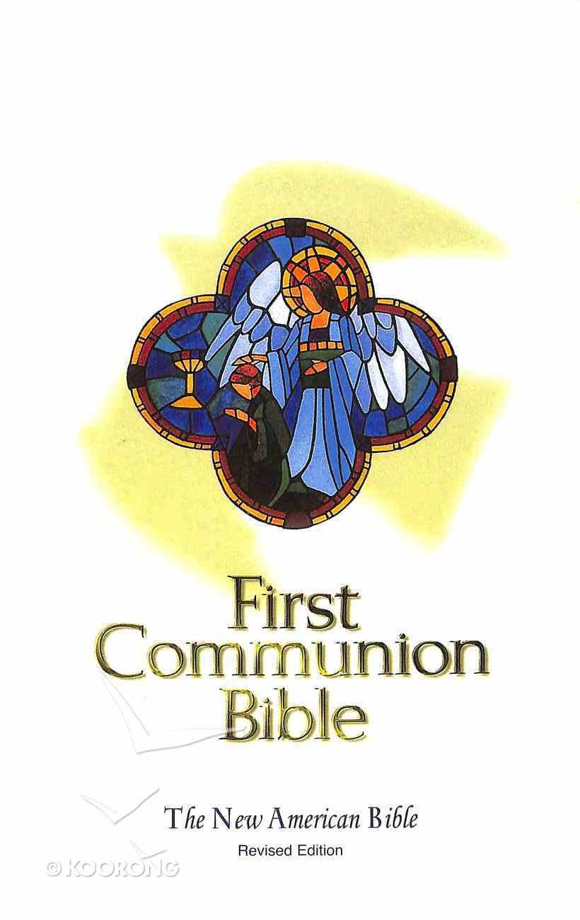 Nab Catholic First Communion Bible White Imitation Leather