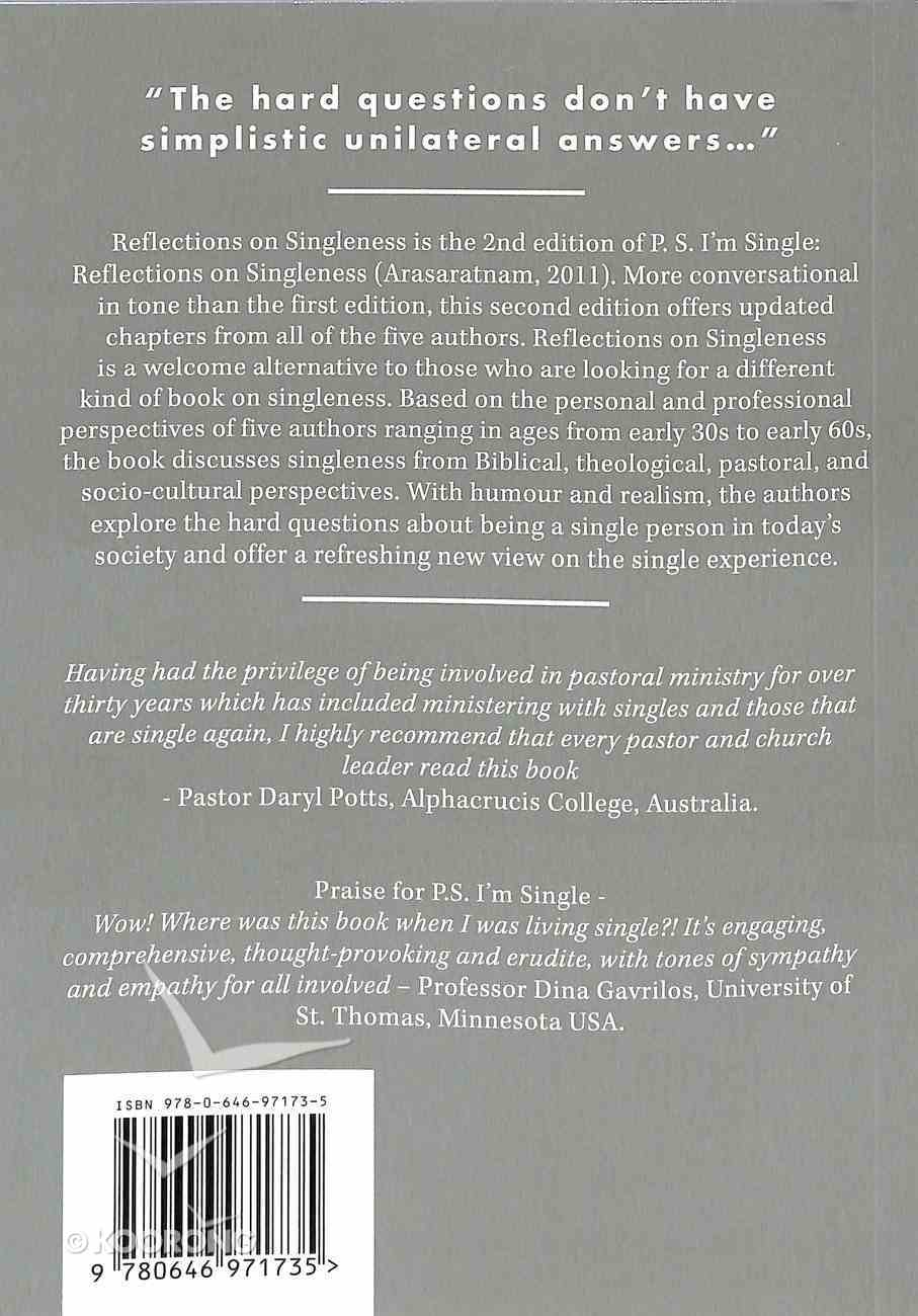 Reflections on Singleness Paperback