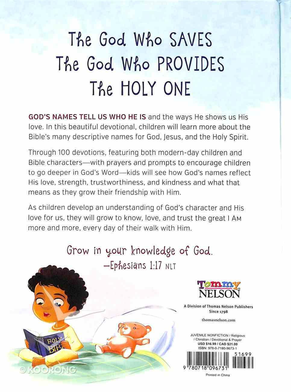 I Am Devotional: 100 Devotions About the Names of God Hardback