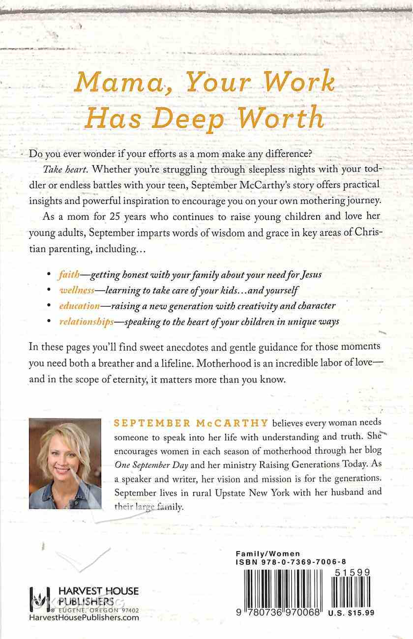 Why Motherhood Matters Paperback
