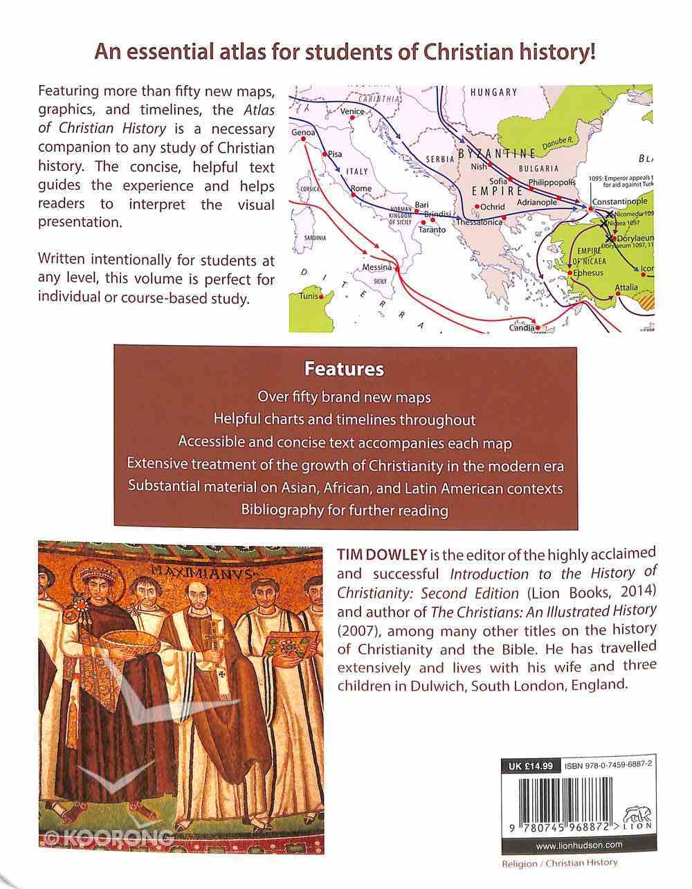 The Atlas of Christian History (Fully 2016) Paperback