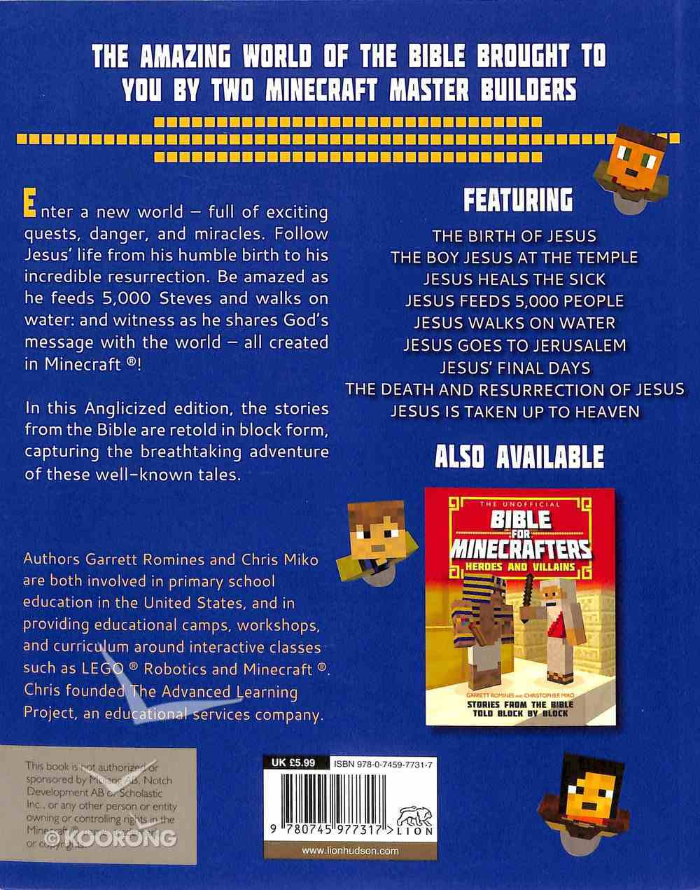 The Unofficial Bible For Minecrafters: Life of Jesus Paperback