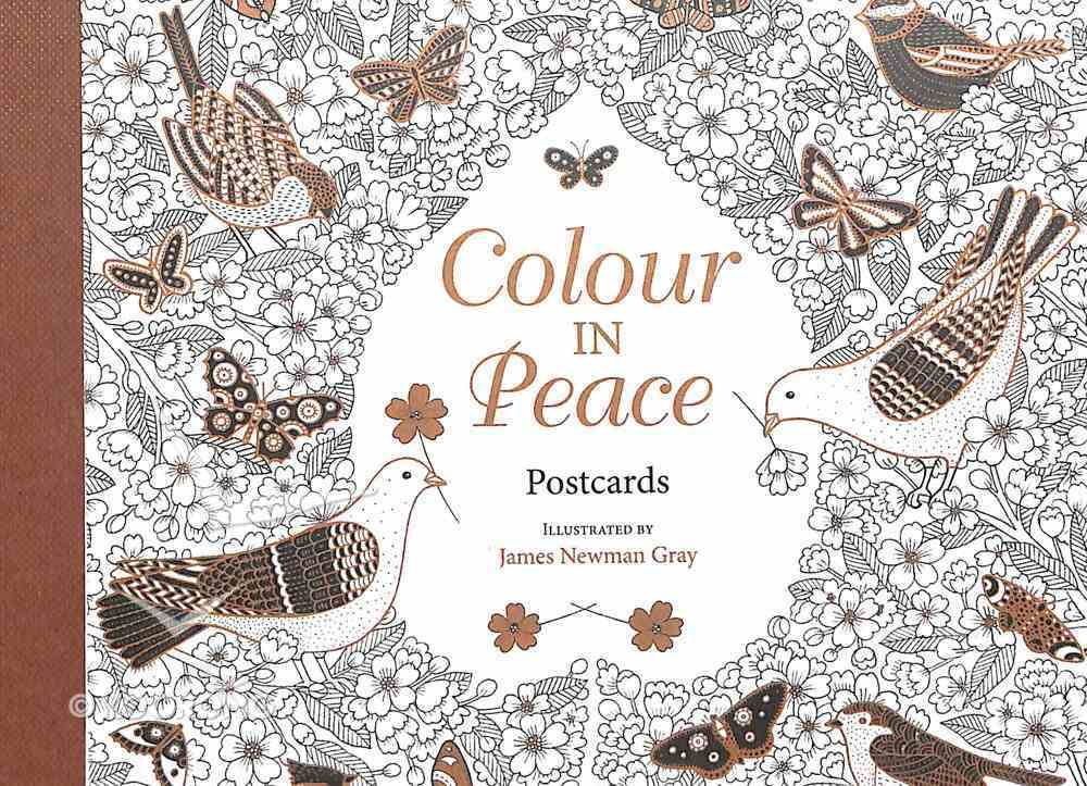 Colour in Peace (Postcards In Book) Paperback