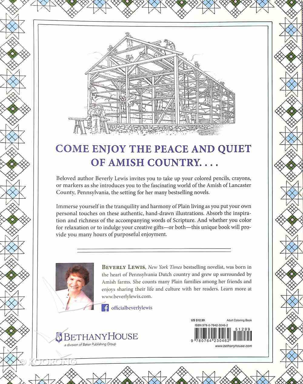 The Beverly Lewis Amish Coloring Book (Adult Coloring Books Series) Paperback