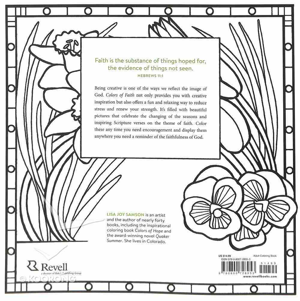Colors of Faith - An Inspirational Coloring Book (Adult Coloring Books Series) Paperback