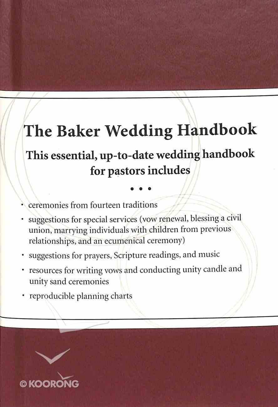 The Baker Wedding Handbook: Resources For Pastors Hardback