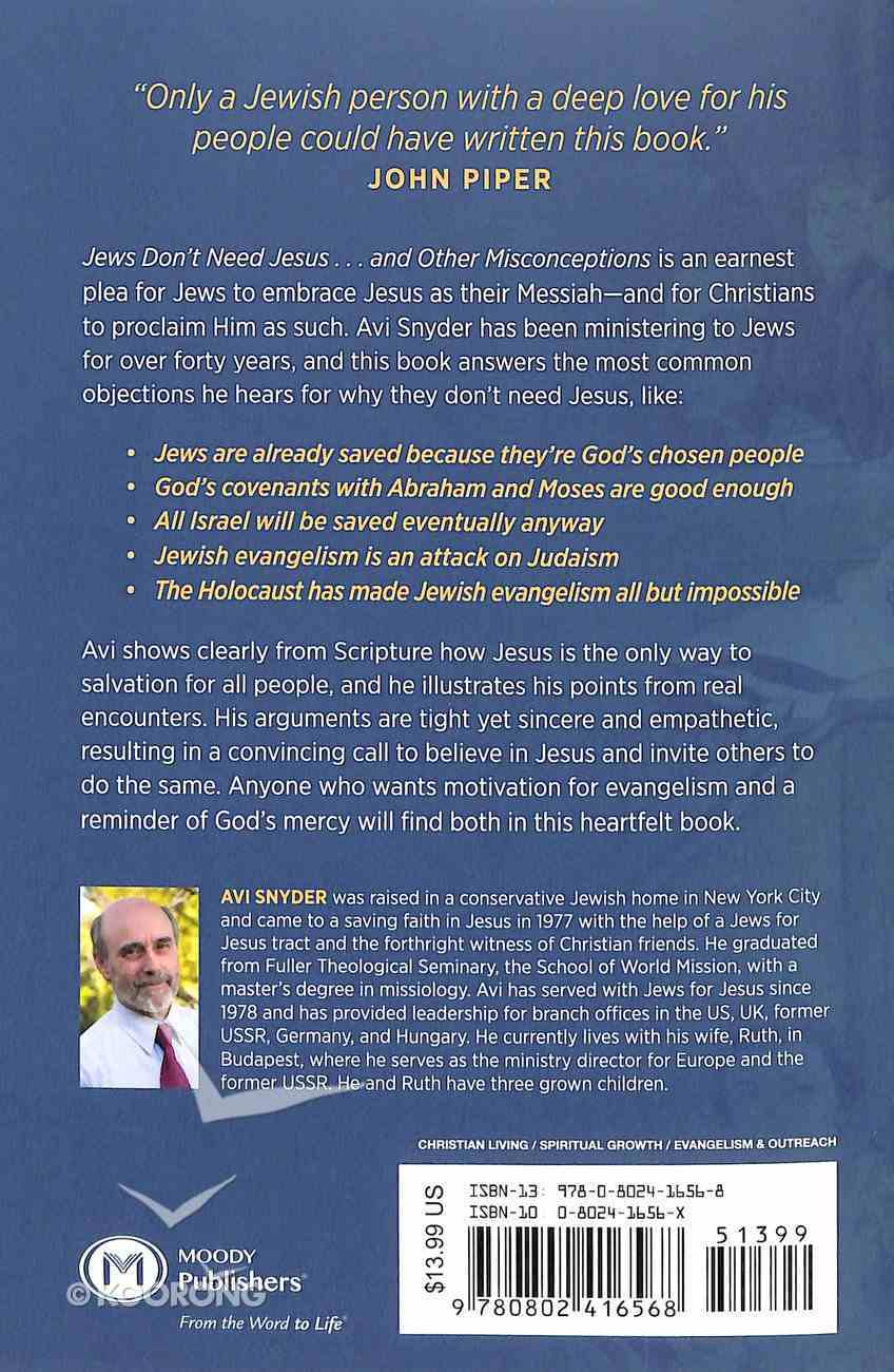 Jews Don't Need Jesus - and Other Misconceptions Paperback