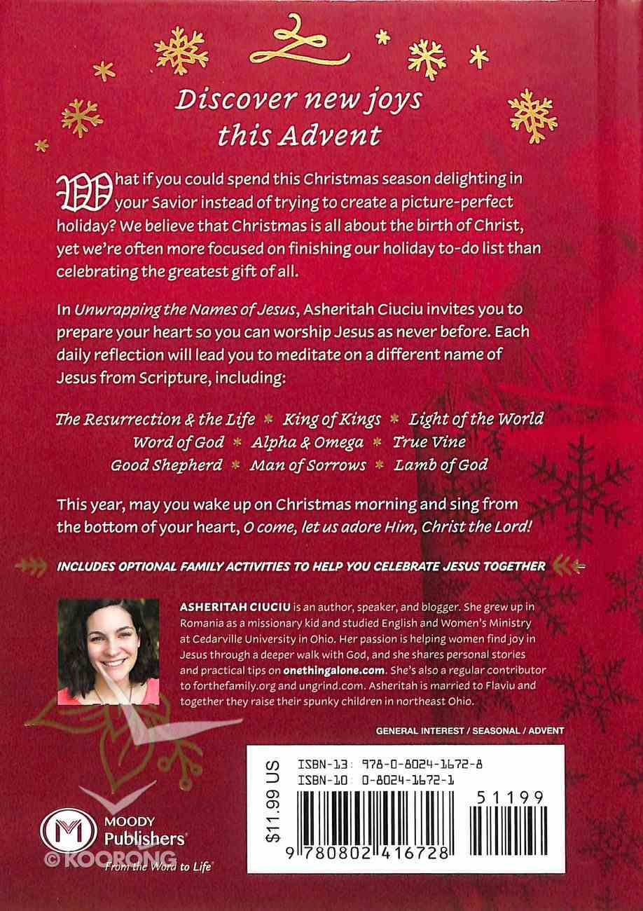 Unwrapping the Names of Jesus: An Advent Devotional Hardback
