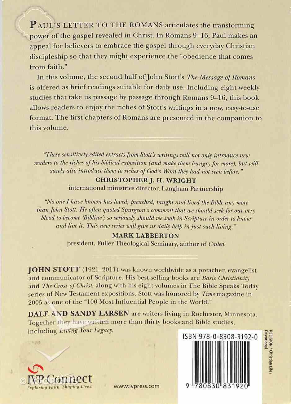 Reading Romans With John Stott (Volume 2) (Reading The Bible With John Stott Series) Paperback
