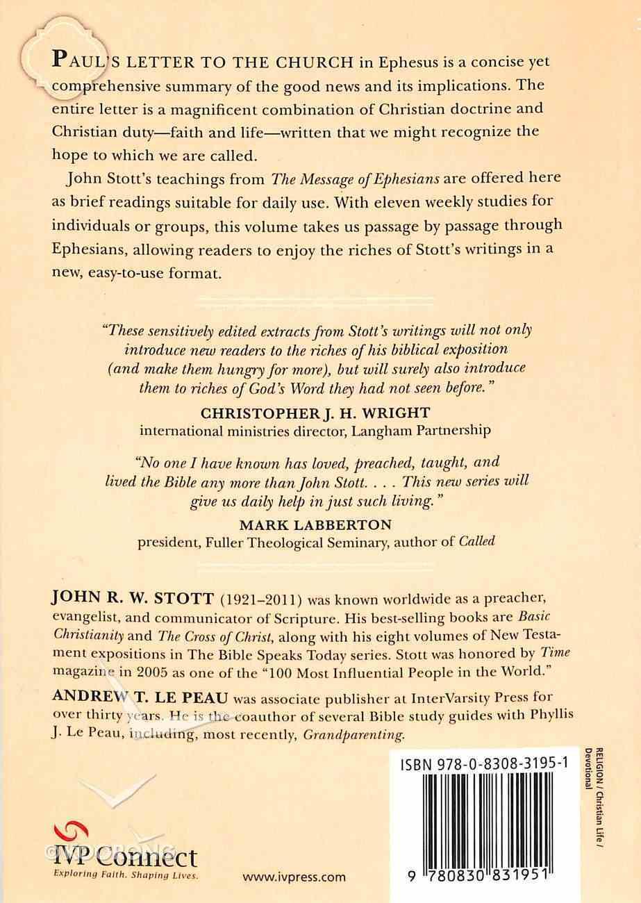 Reading Ephesians With John Stott (Reading The Bible With John Stott Series) Paperback