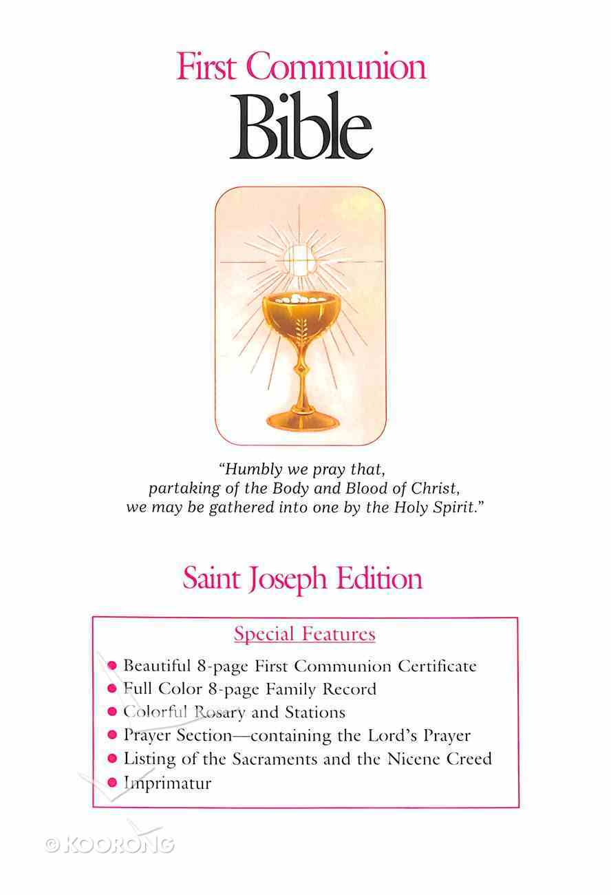 Nab St Joseph First Communion Bible (Girls) Flexi Back