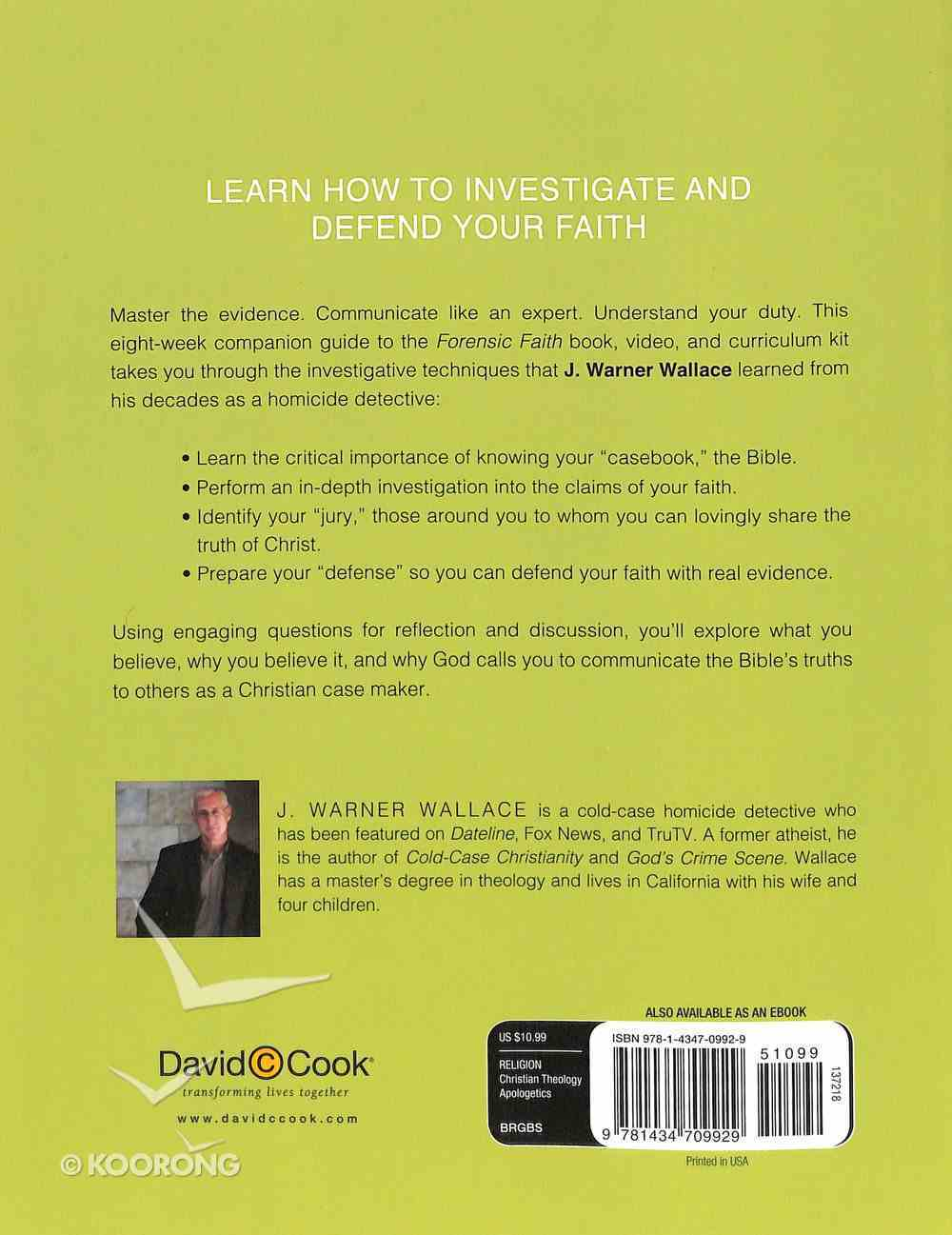 Forensic Faith (Participant's Guide) Paperback