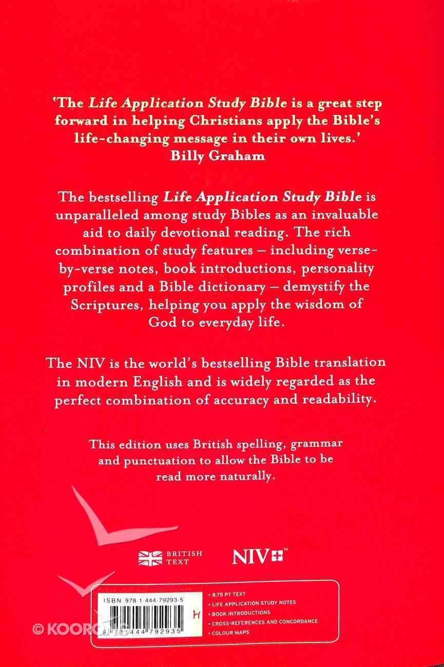 NIV Life Application Study Bible (Anglicised) Hardback