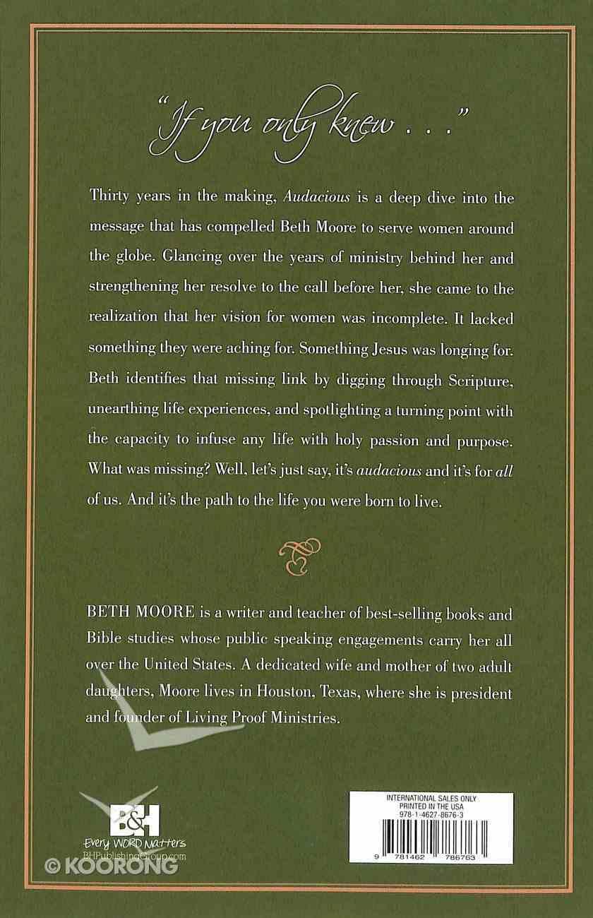 Audacious Paperback
