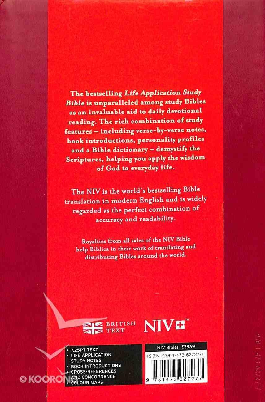NIV Compact Life Application Study Bible Red (Anglicised) Imitation Leather
