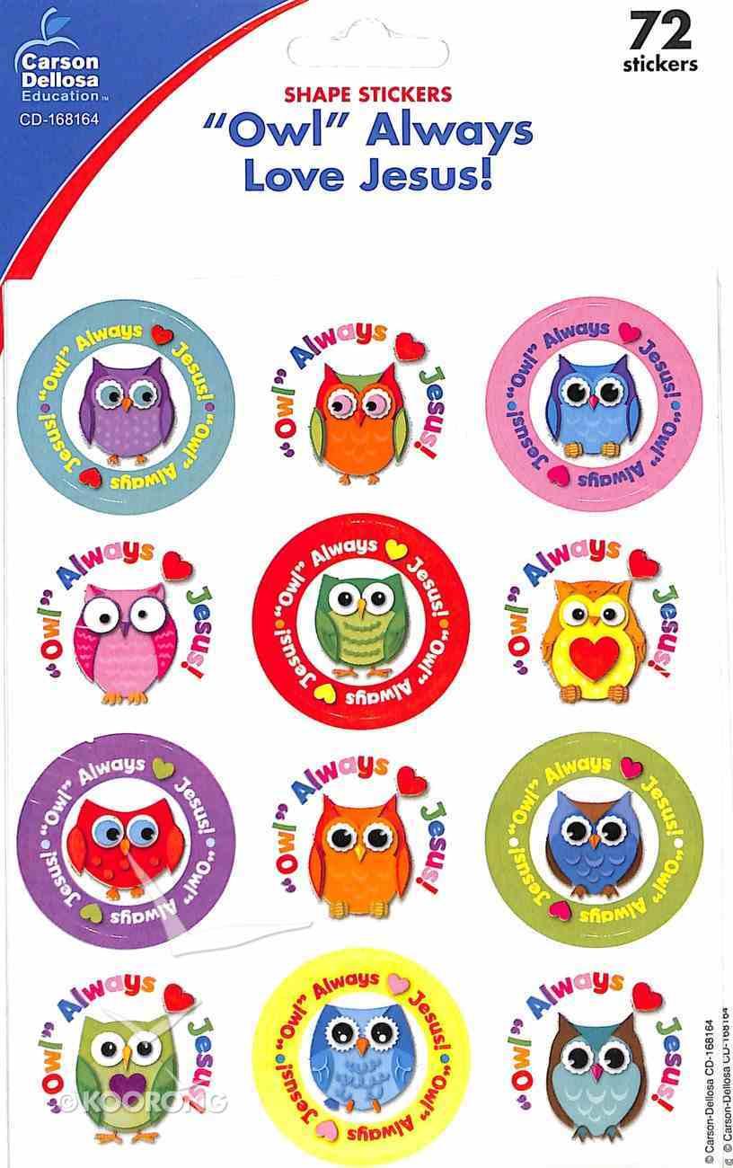 "Sticker Pack: ""Owl"" Always Love Jesus! Novelty"