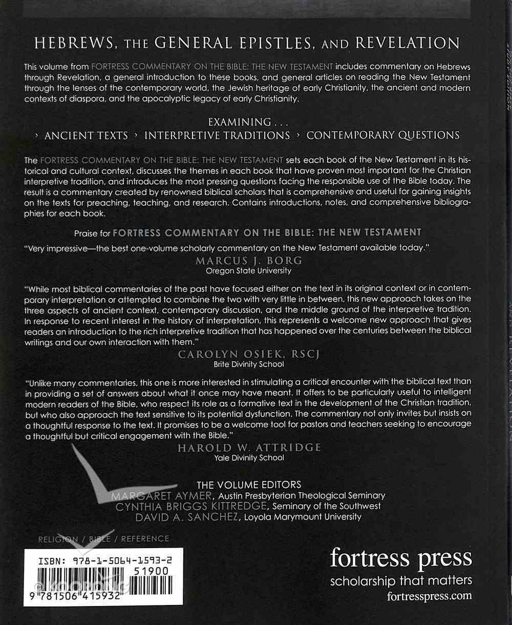 Hebrews, the General Epistles, and Revelations (Fortress Commentary On The Bible Series) Paperback