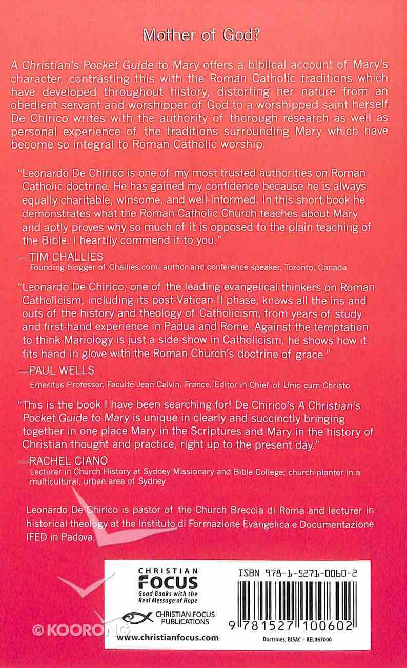 Mary: Mother of God? (A Christian's Pocket Guide Series) Paperback