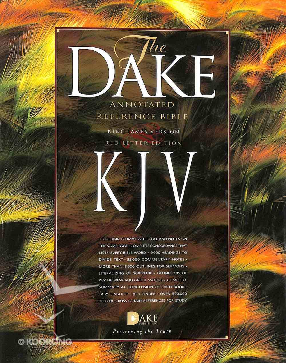 KJV Dake's Annotated 3 Column Reference Bible Black Bonded Leather