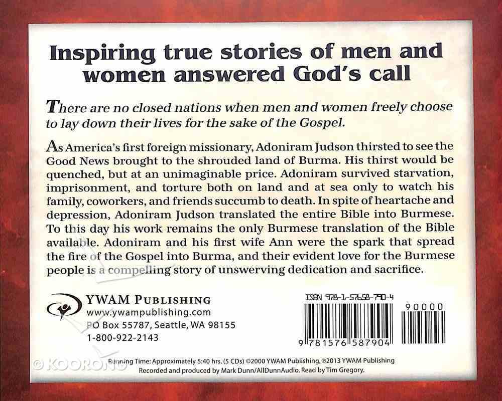 Adoniram Judson - Bound For Burma (Unabridged, 5 CDS) (Christian Heroes Then & Now Audio Series) CD