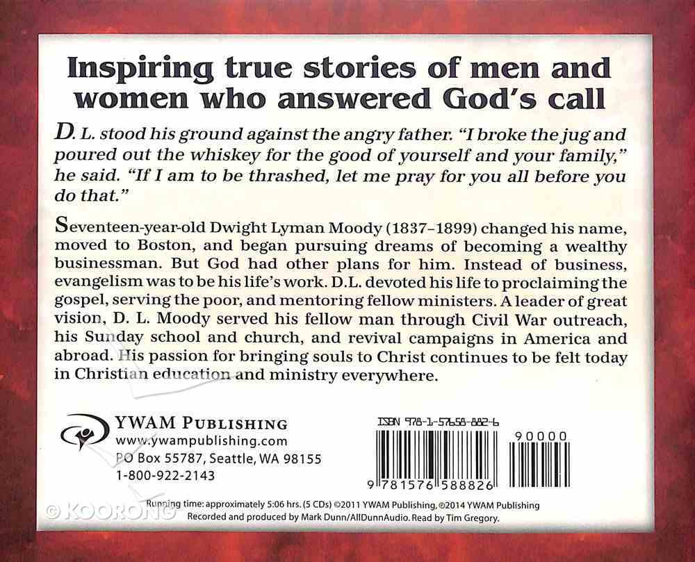 D.L. Moody - Bringing Souls to Christ (Unabridged, CDS) (Christian Heroes Then & Now Audio Series) CD