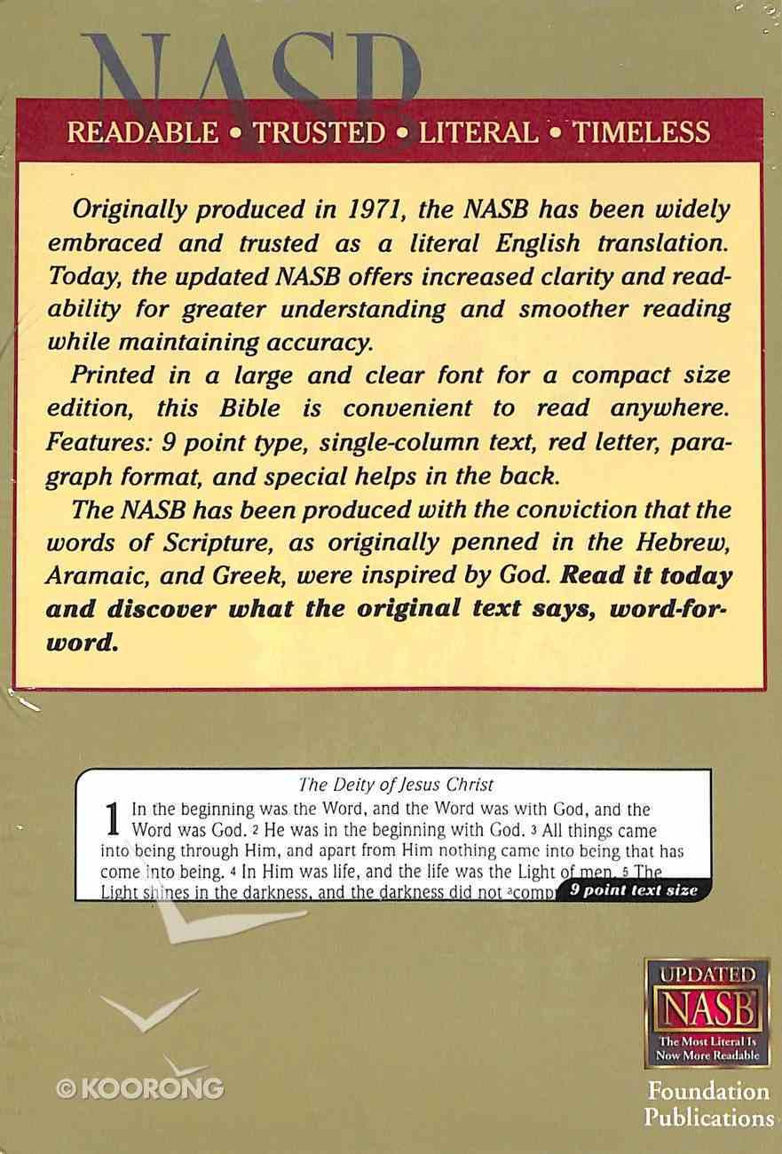 NASB Large Print Compact Black Imitation Leather