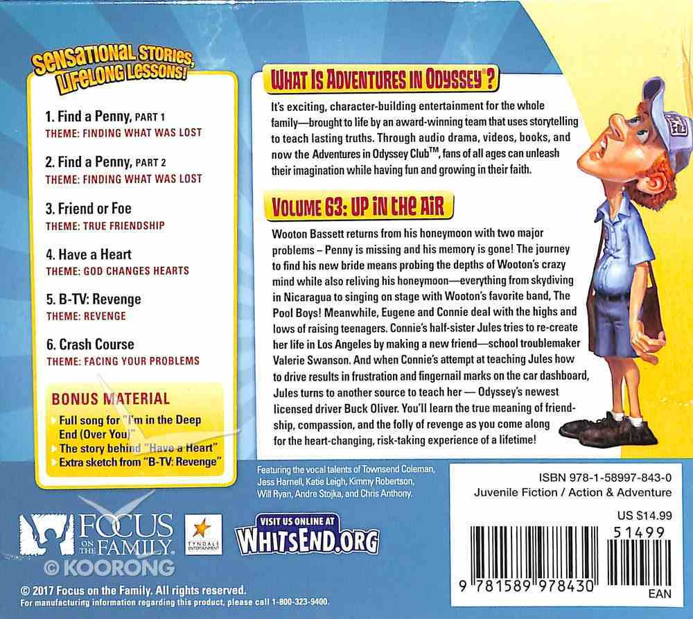 Up in the Air (#63 in Adventures In Odyssey Audio Series) CD