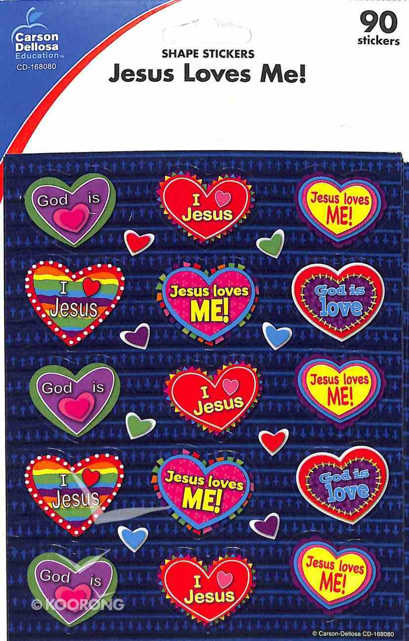 Sticker Pack: Jesus Loves Me! Shape Stickers (90 Stickers Per Pack) Novelty