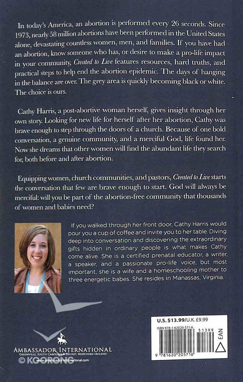 Created to Live: Becoming the Answer For An Abortion-Free Community Paperback
