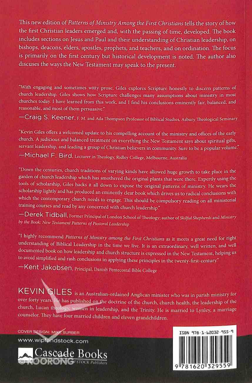 Patterns of Ministry Among the First Christians (Second Edition) Paperback