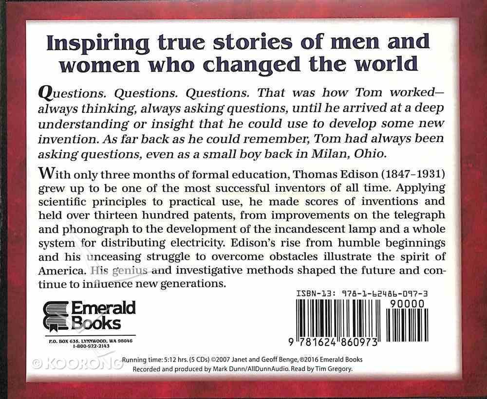 Thomas Edison - Inspiration and Hard Work (Unabridged, 5 CDS) (Heroes Of History Series) CD