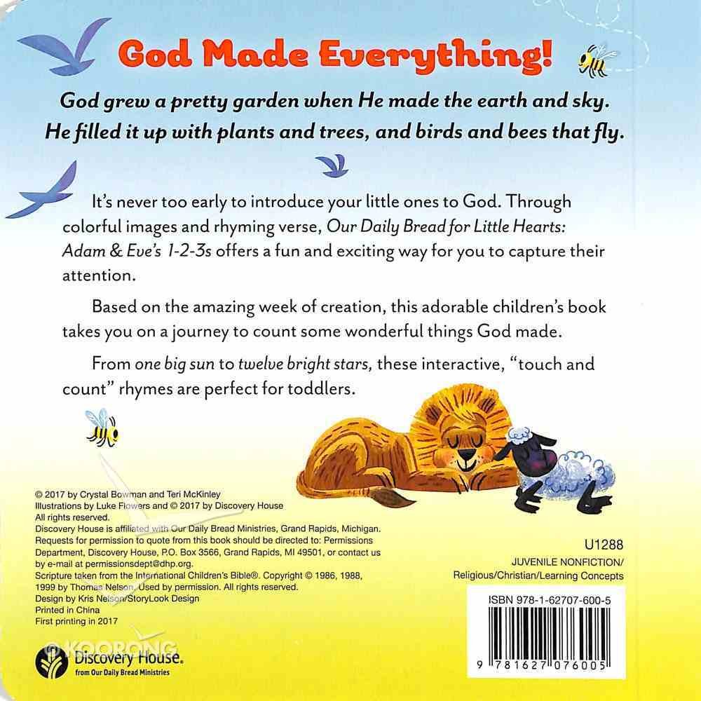 Adam and Eve's 1-2-3s (Our Daily Bread For Little Hearts Series) Board Book