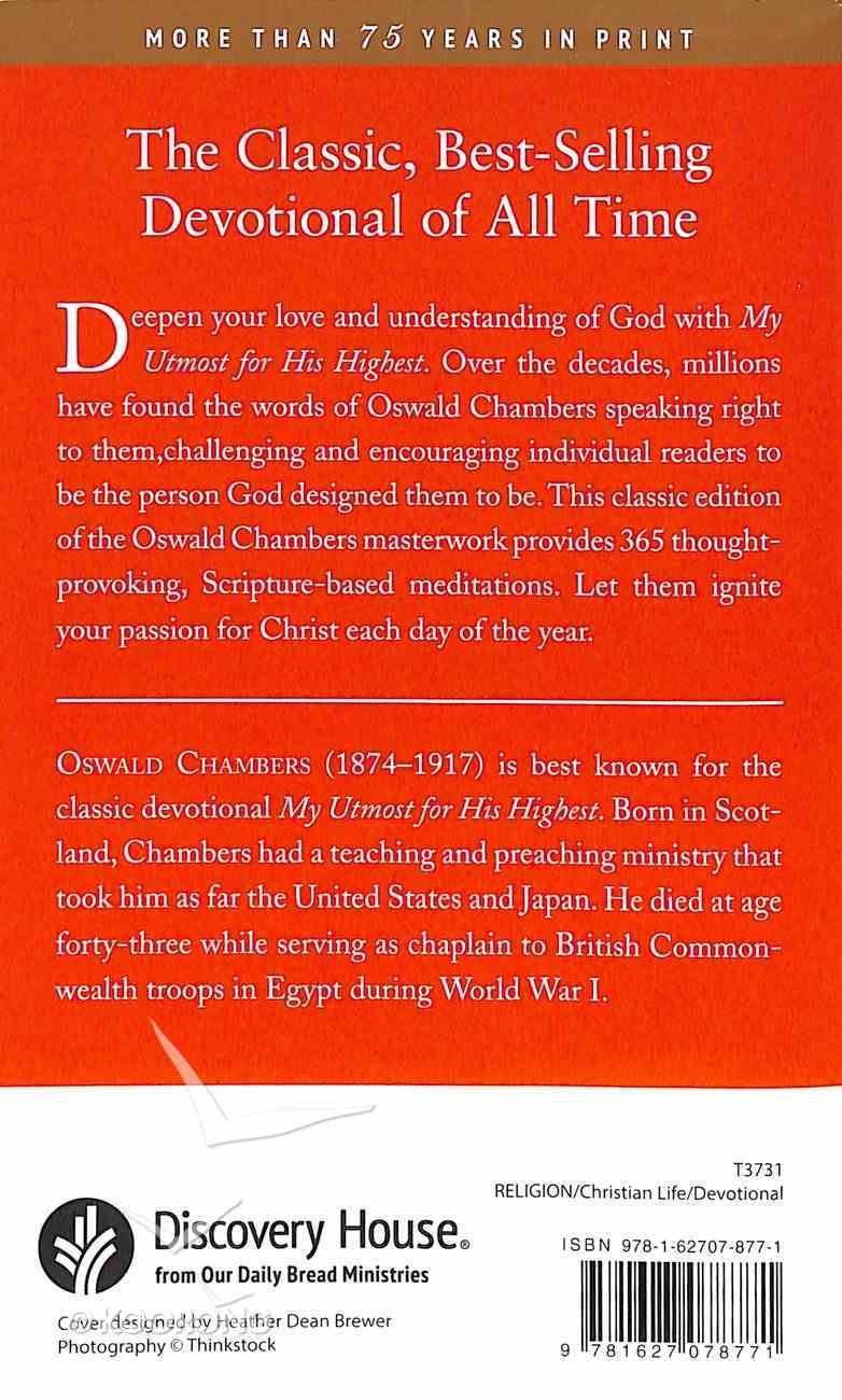 My Utmost For His Highest (Classic Edition) Paperback