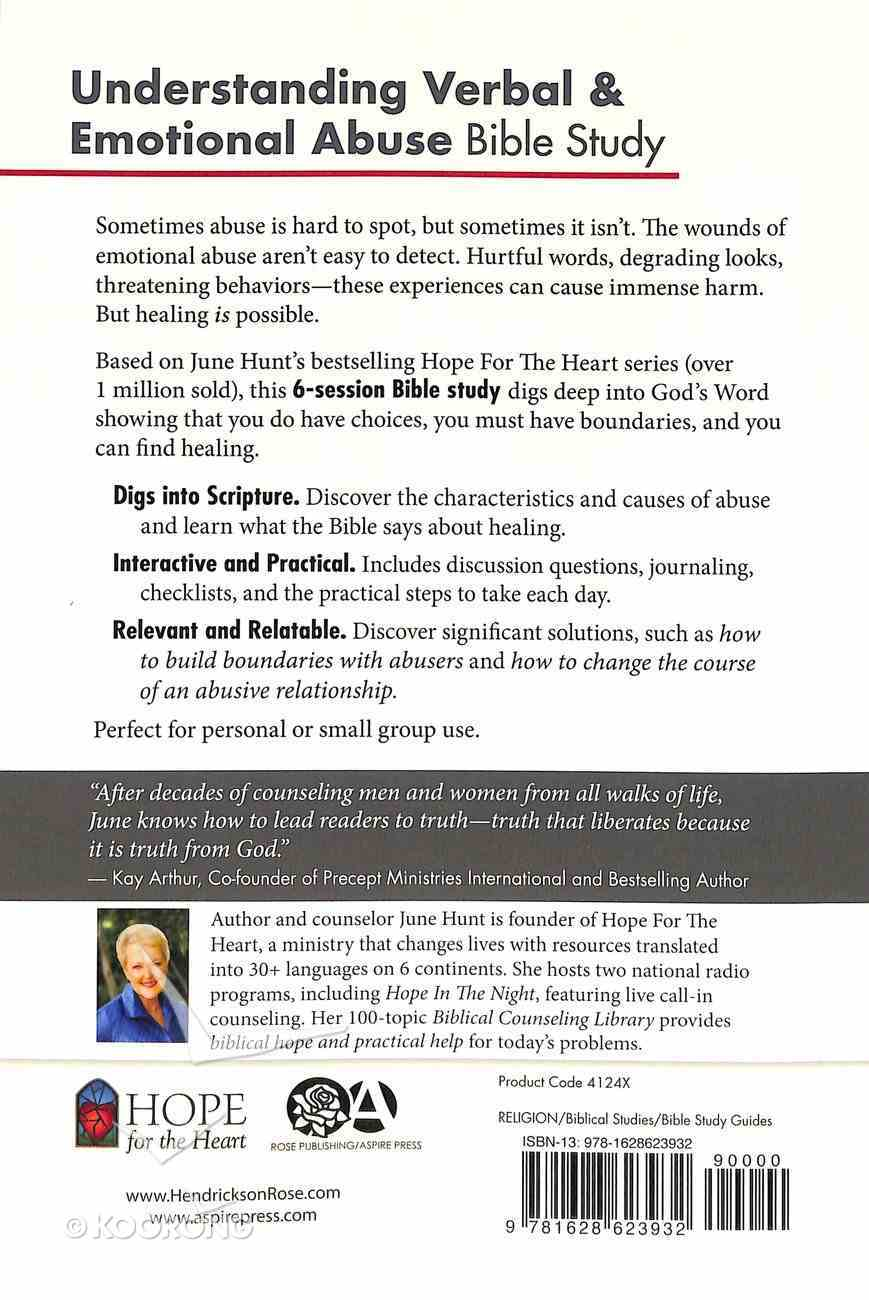 Understanding Verbal and Emotional Abuse Bible Study (#06 in Hope For The Heart Bible Study Series) Paperback