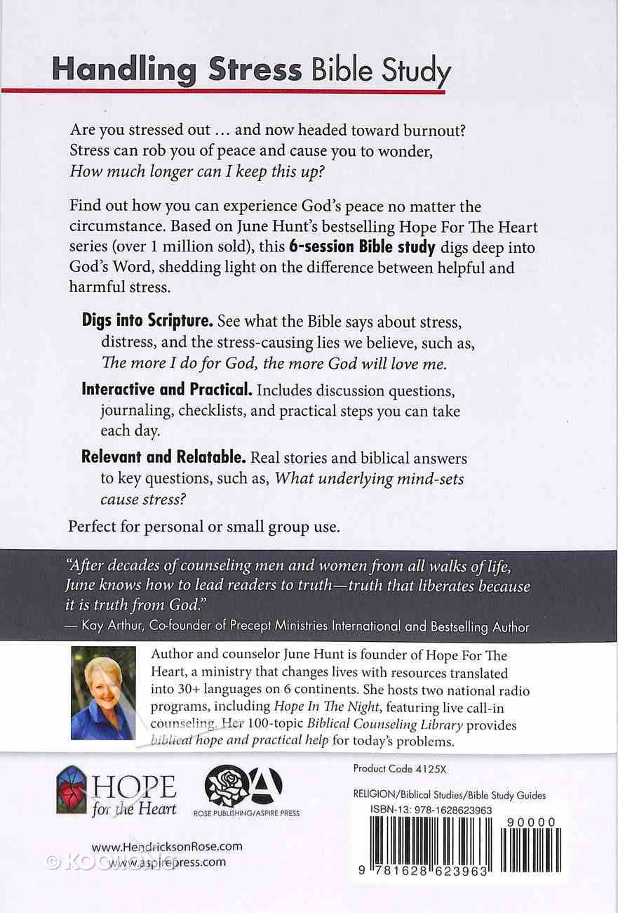 Handling Stress Bible Study (#3 in Hope For The Heart Bible Study Series) Paperback