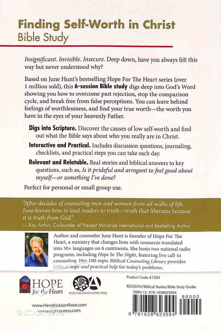 Finding Self-Worth in Christ Bible Study (#05 in Hope For The Heart Bible Study Series) Paperback