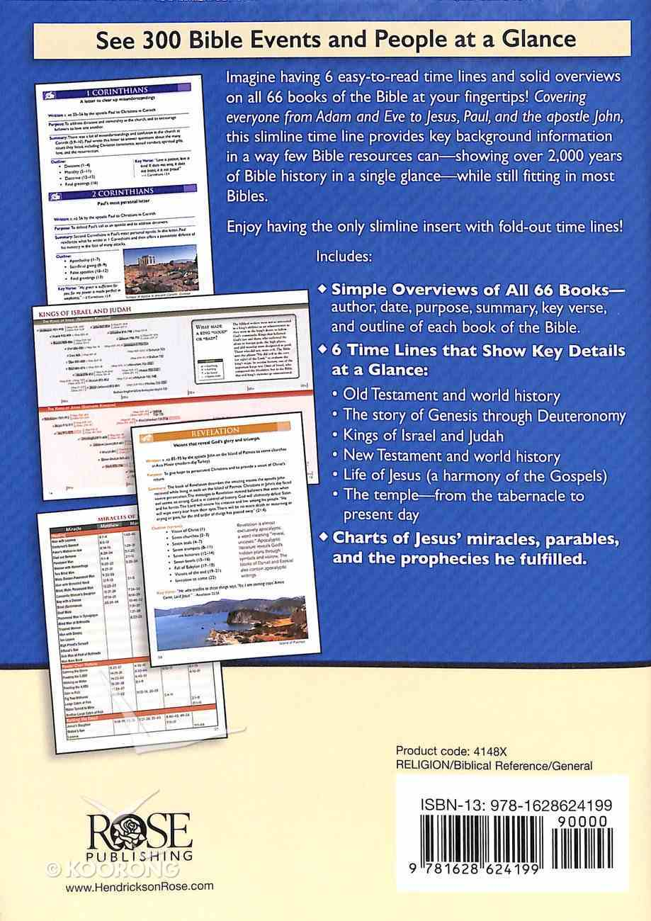 Bible Time Lines and Overview - Bible Insert Book Other