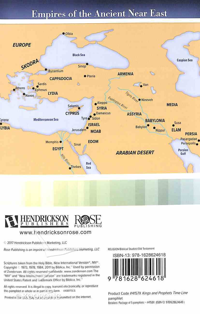 Kings & Prophets Time Line (Rose Guide Series) Pamphlet