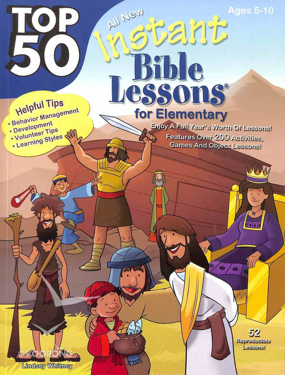Top 50 Instant Bible Lessons For Elementary With Object Lessons (Rosekidz Top 50 Series) Paperback