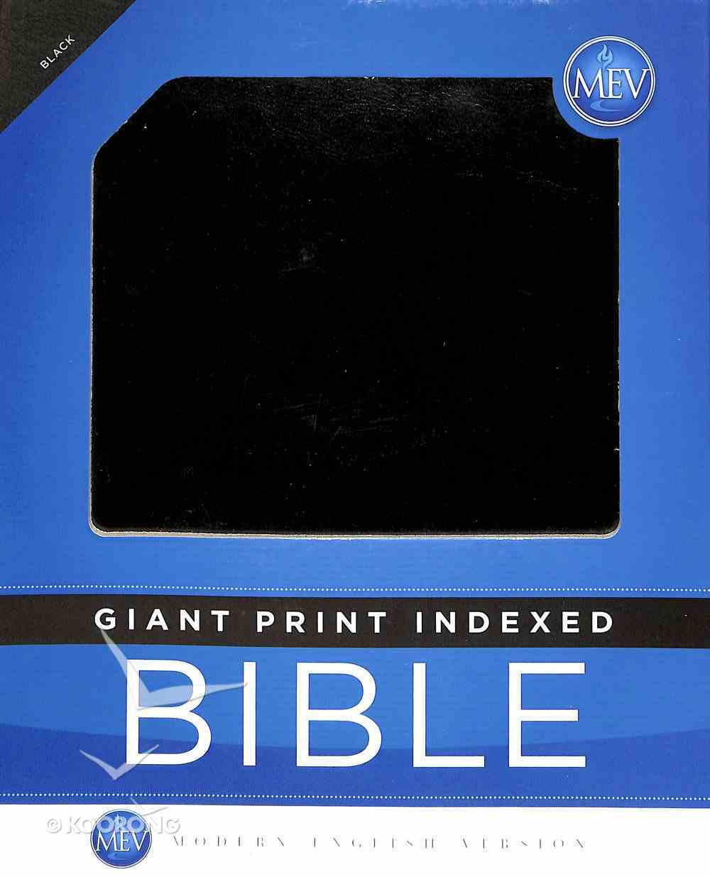 MEV Giant Print Black Indexed Imitation Leather