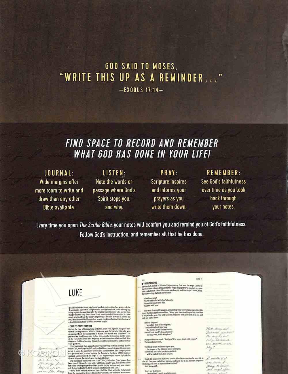 Message Scribe Bible Dark Walnut (Black Letter Edition) Hardback