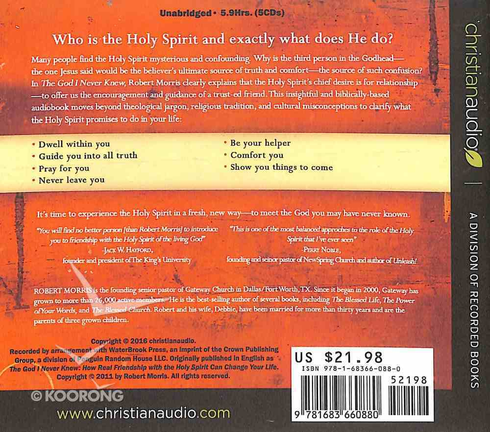 The God I Never Knew (Unabridged, 5 Cds) CD