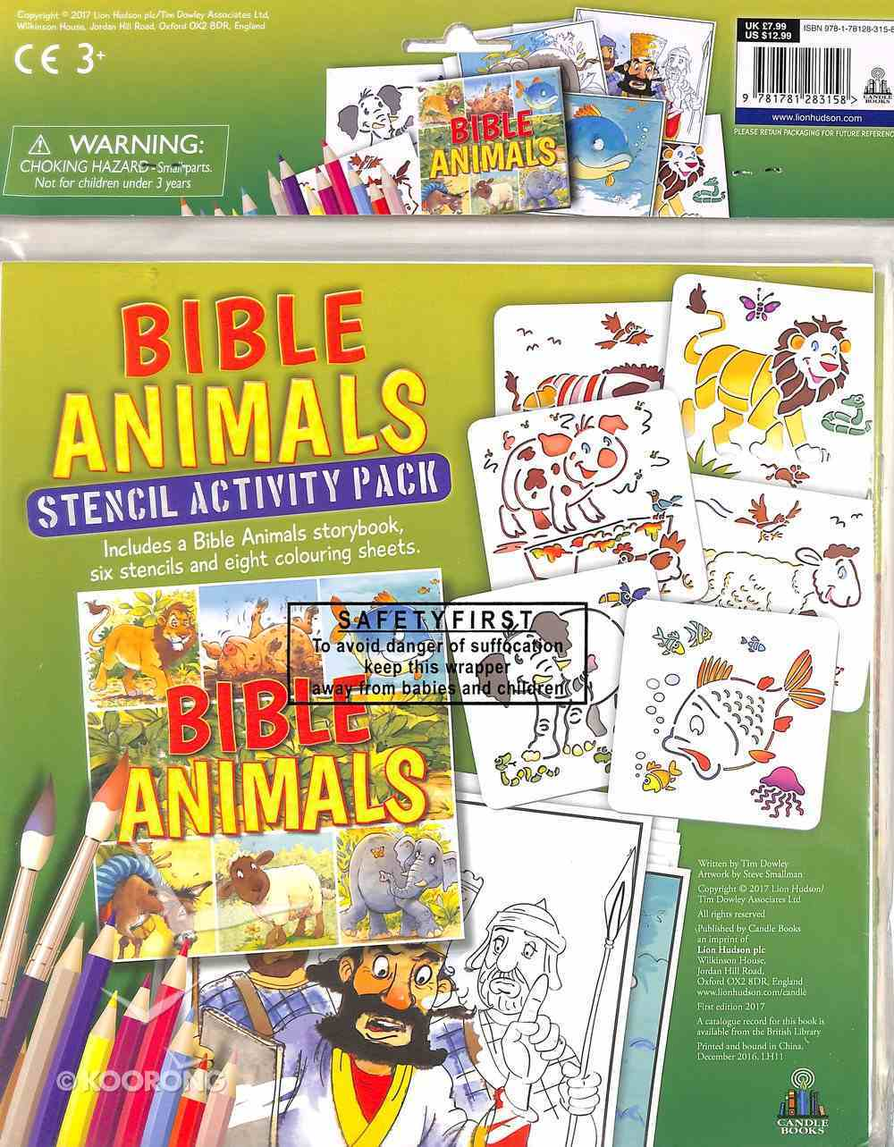 Bible Animals (Stencil Activity Pack) Pack