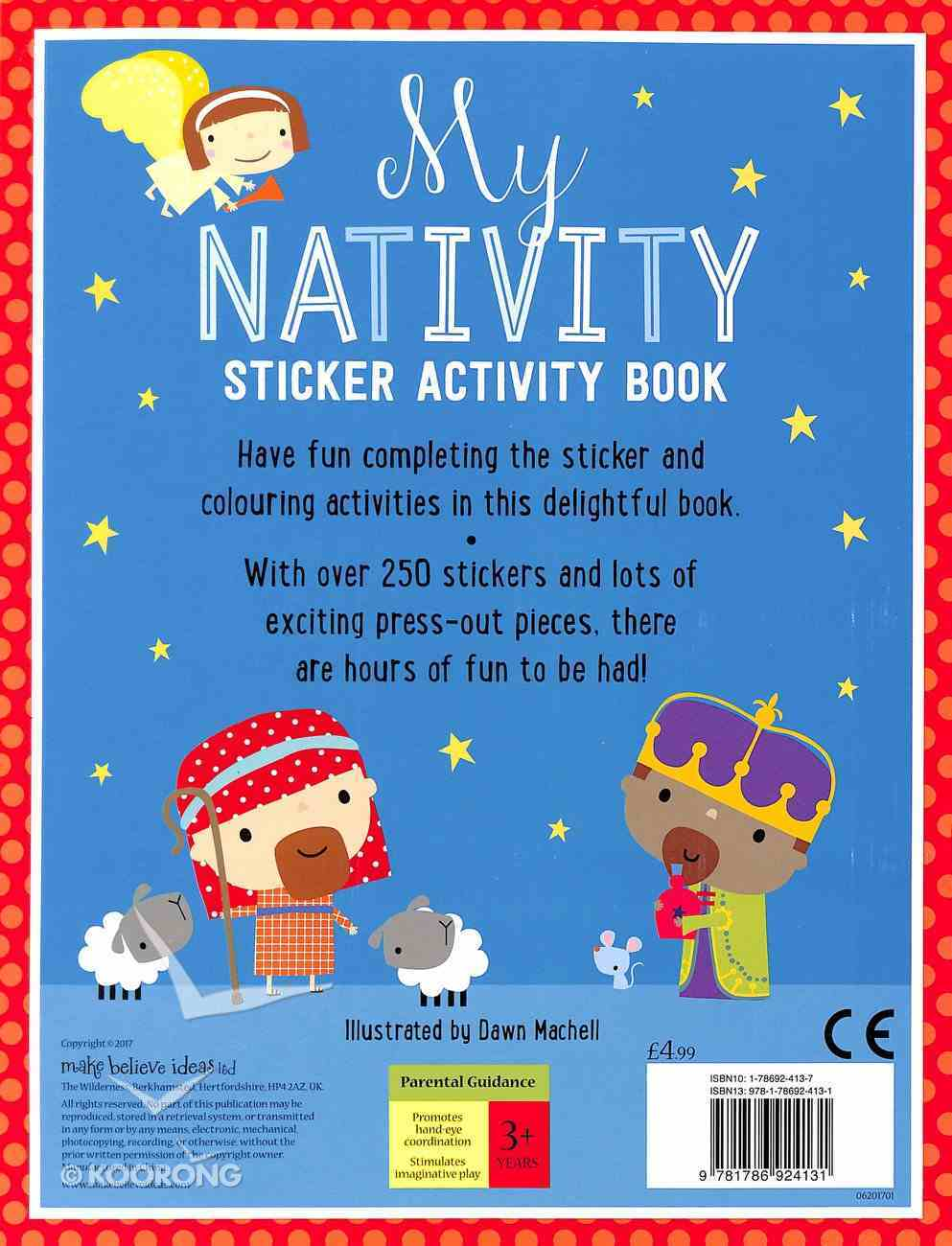 My Nativity Sticker Activity Book (With Over 250 Stickers) Paperback