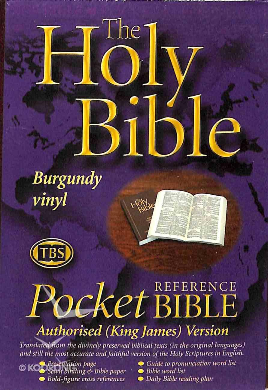 KJV Pocket Reference Bible Burgundy (Black Letter Edition) Paperback
