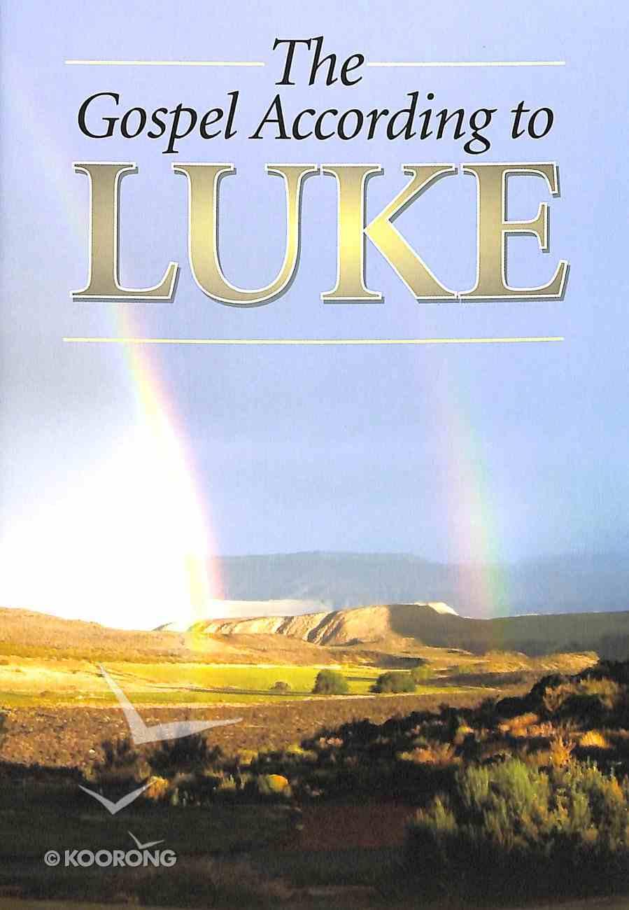 KJV Gospel According to Luke (Black Letter Edition) Paperback