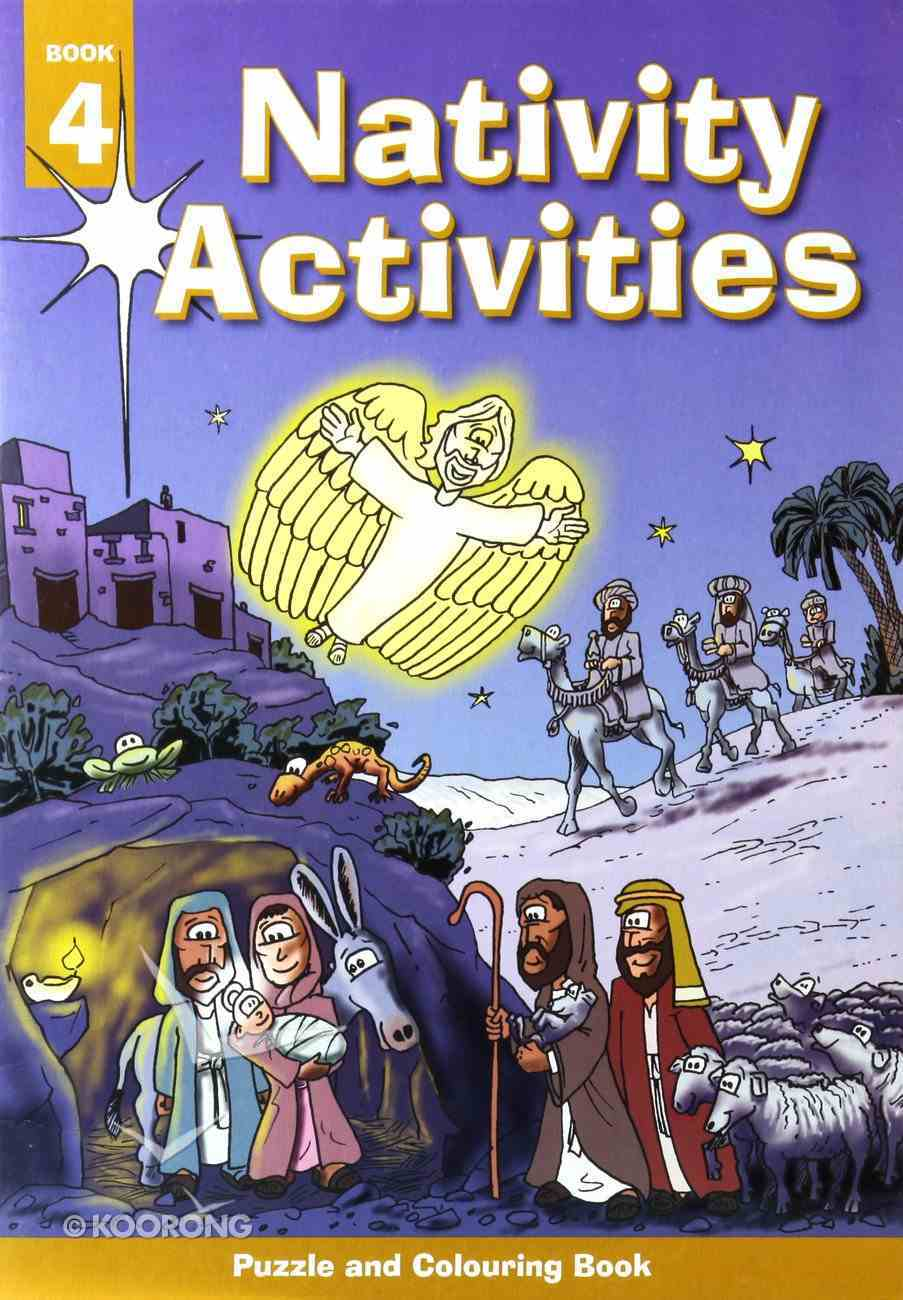 Puzzle and Colouring #04: Nativity Activities Paperback