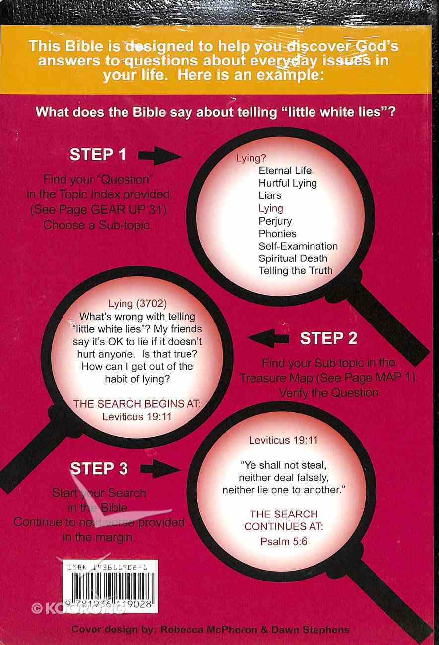 KJV Thompson Answer Bible Black Discovering Treasures of Truth For Young (Black Letter Edition) Imitation Leather