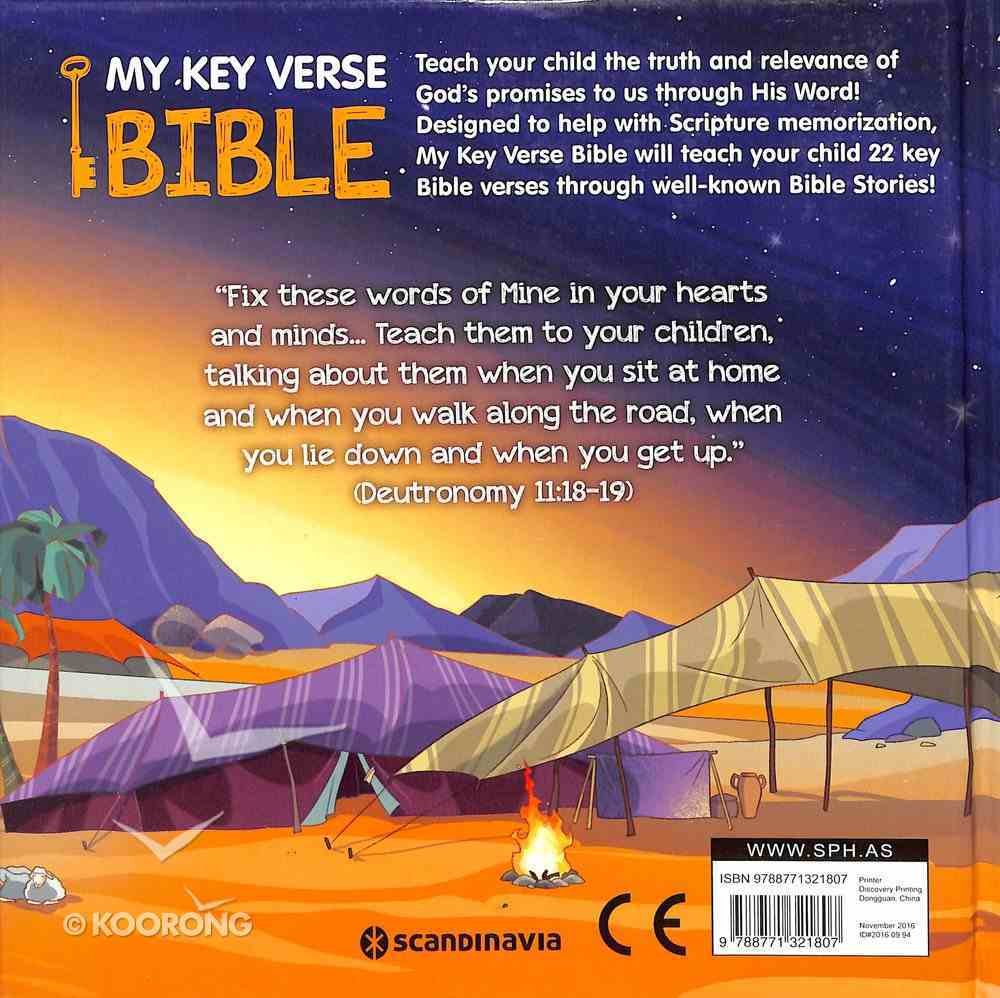 My Key Verse Bible: 22 Great Bible Verses to Memorize Board Book